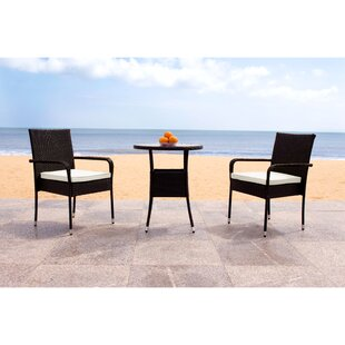Lon 3 Piece Bistro Set with Cushions