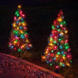 winchester fir prelit 3 walkway tree net lights - Christmas Walkway Lights