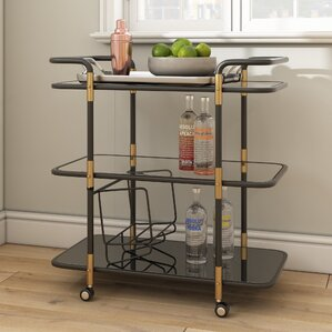 Crespin Bar Cart by Brayden Studio