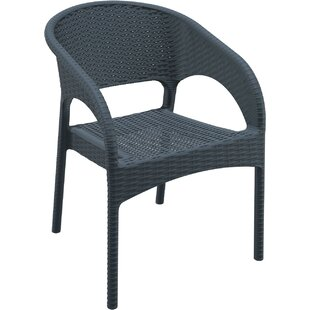 Eliza Stacking Patio Dining Chair (Set of 2)