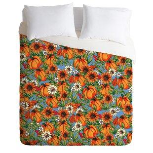 East Urban Home Pumpkin Harvest Duvet Cover Set