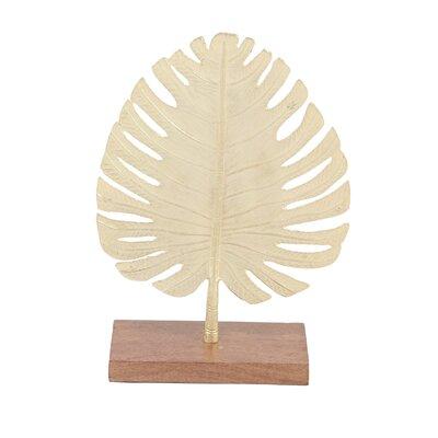 Bay Isle Home Bellefonte Metal Leaf Sculpture
