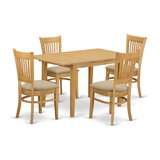 Antonio Butterfly Leaf Solid Wood Dining Set by Andover Mills™