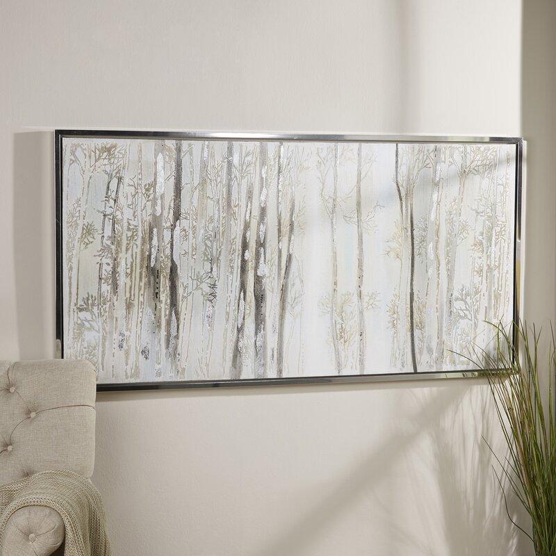 Birch Lane™ Birch Trees Framed Canvas & Reviews | Birch Lane