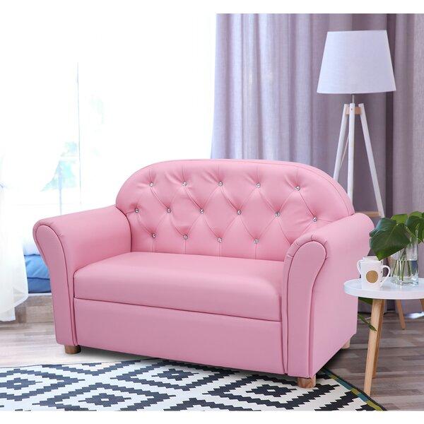 Harriet Bee Ruiz Armrest Couch Kids Sofa with Flip Open   Wayfair
