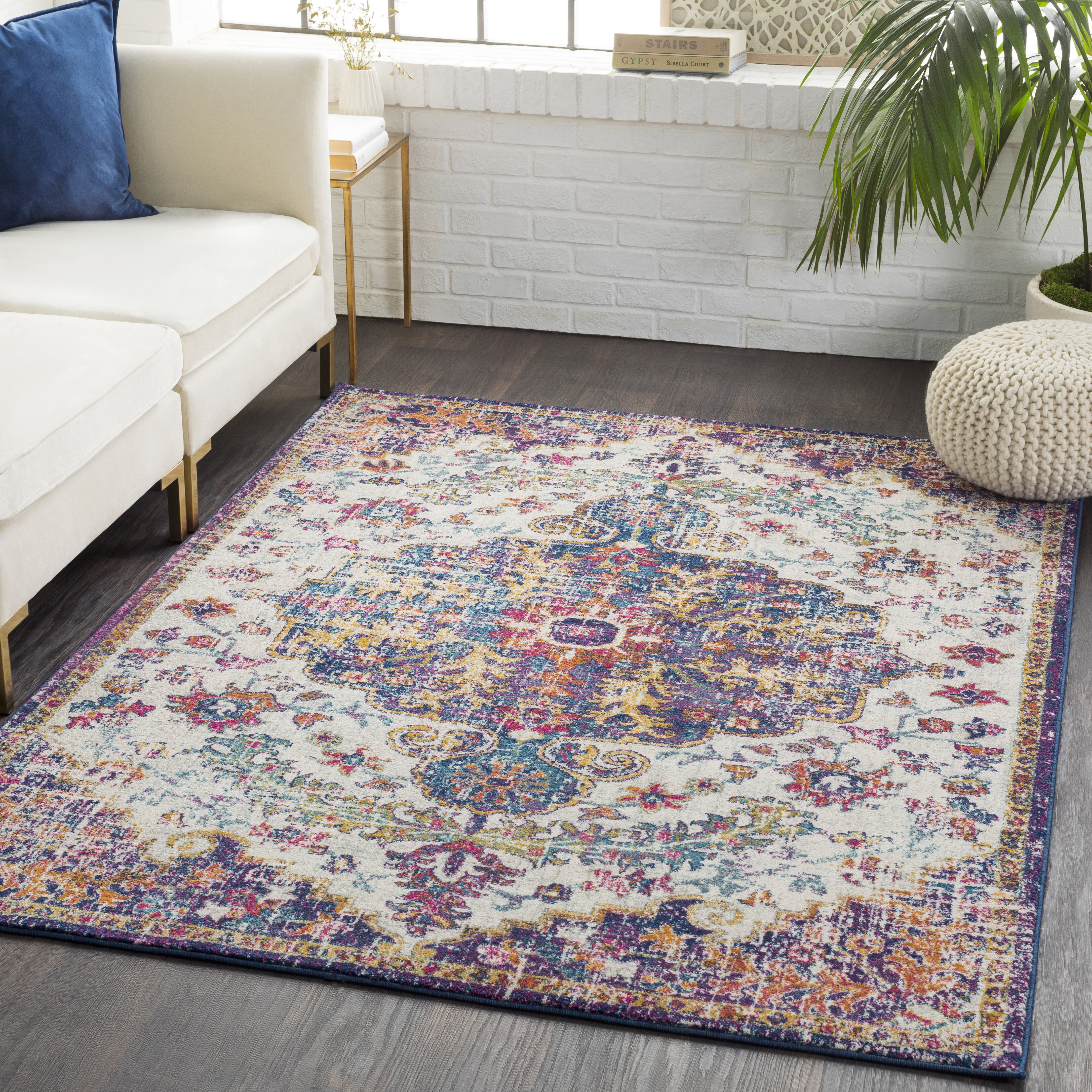 Hillsby Purple Teal Area Rug Reviews