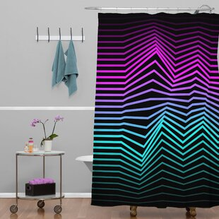 Three of the Possessed Miami Nights Polyester Single Shower Curtain