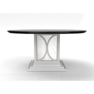 Chelsea Dining Table With Mirrored Pedestal Base