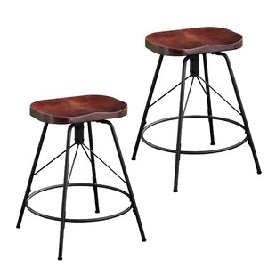 Parrish 24 Swivel Bar Stool (Set of 2) Williston Forge