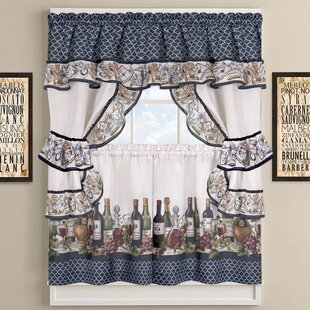 Chateau Wines Cottage Kitchen Curtains