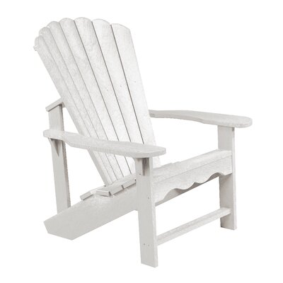 Alanna Plastic Adirondack Chair Color: White by Beachcrest Home