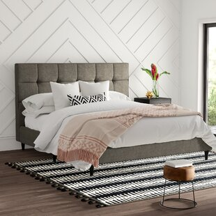 Malave Square Stitched Upholstered Platform Bed by Mercury Row