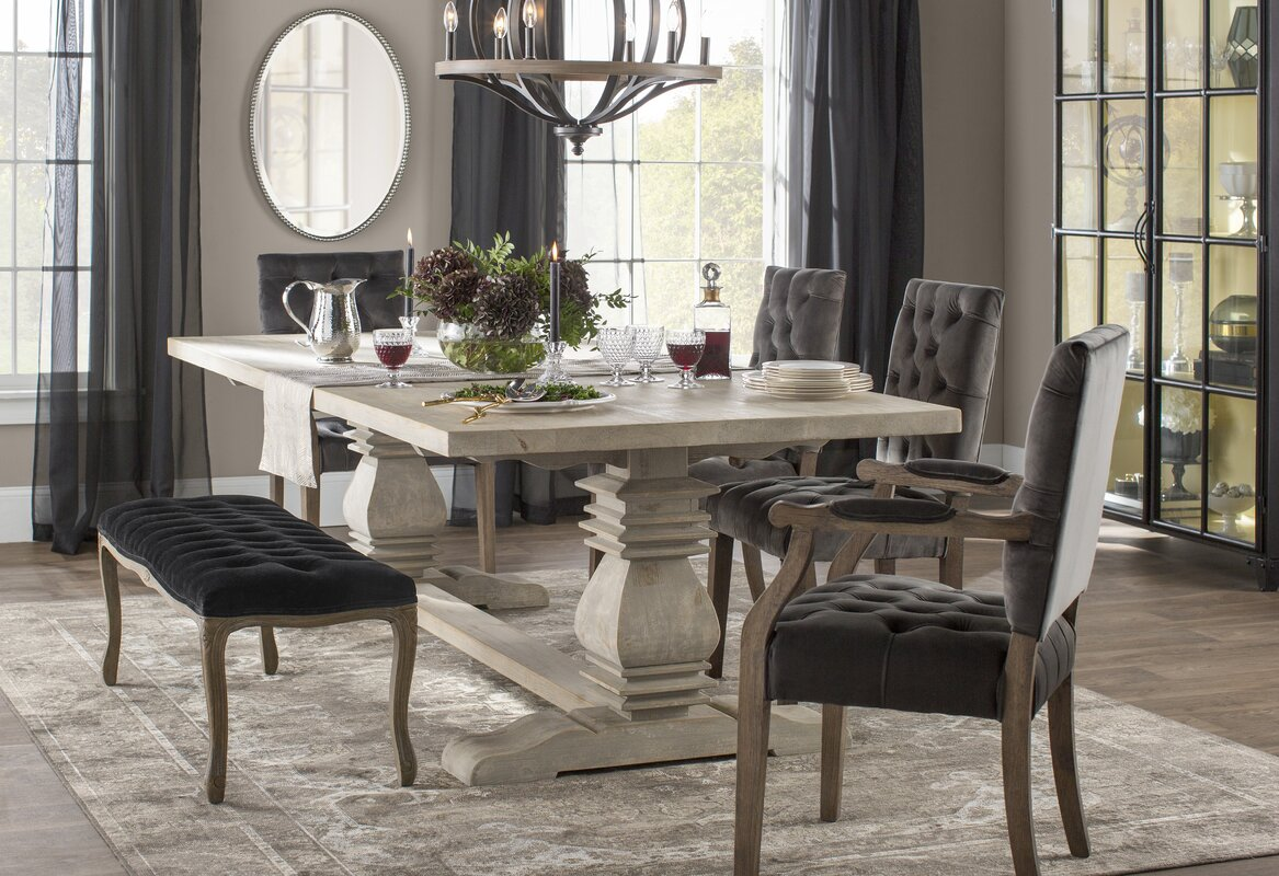 Suzette Reclaimed Pine Dining Table & Reviews | Joss & Main