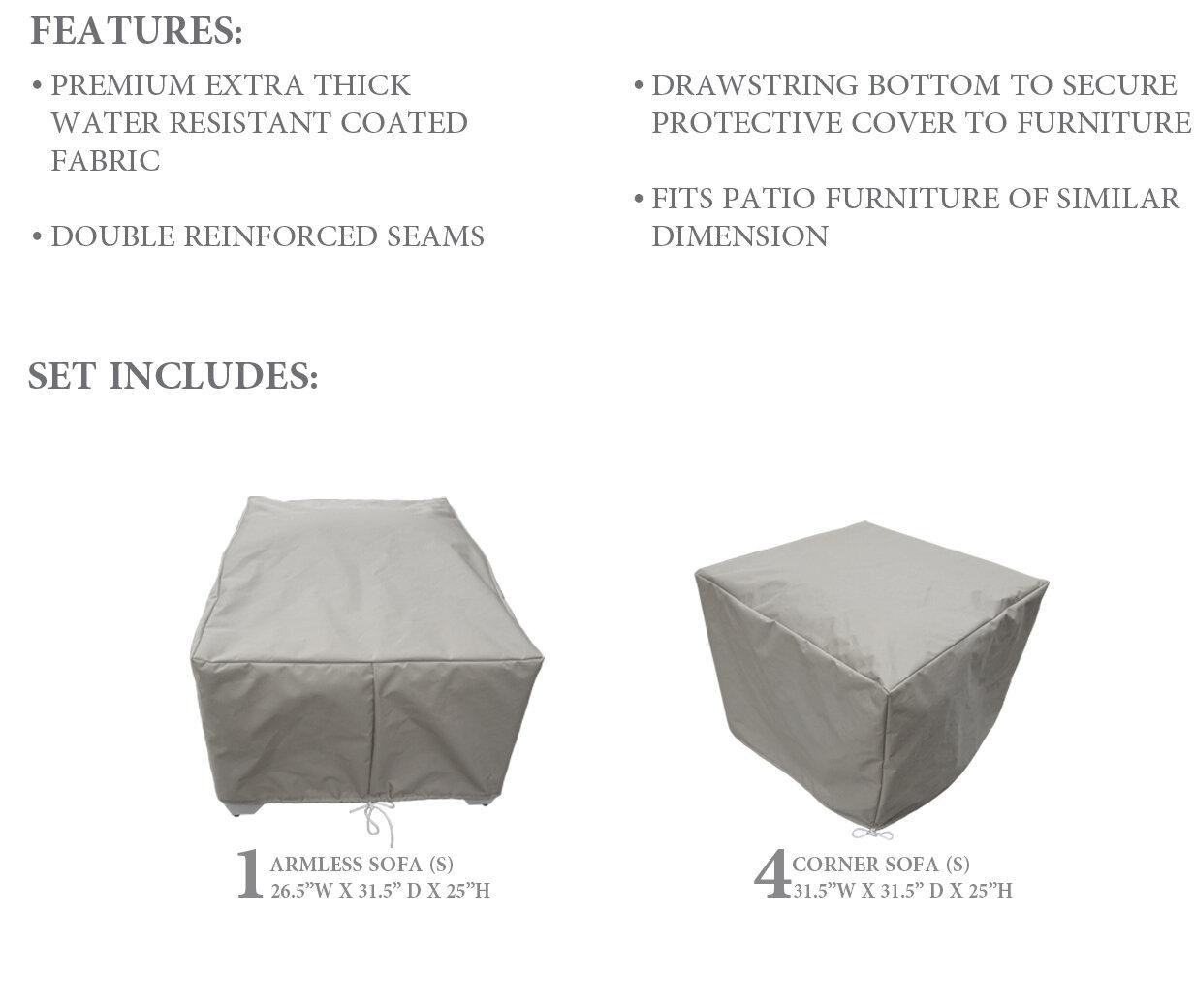 Tremendous Fernando Protective 5 Piece Water Resistant Patio Furniture Cover Set Download Free Architecture Designs Scobabritishbridgeorg