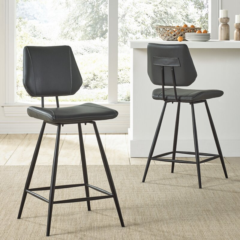 Williston Forge Greaney 24 Quot Swivel Bar Stool Amp Reviews