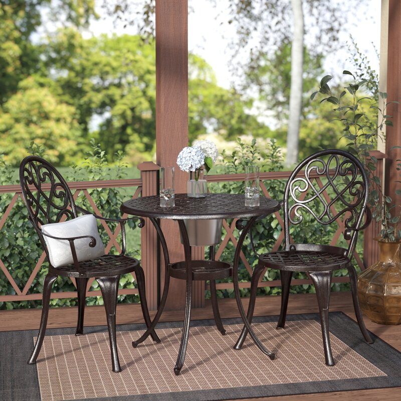 3 piece patio set alcott hill chestnut 3 bistro set amp reviews 10318