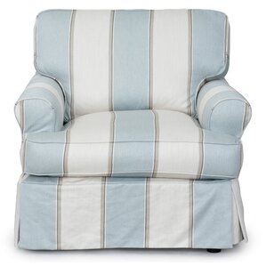 Coral Gables T-Cushion Armchair Slipcover by Beachcrest Home