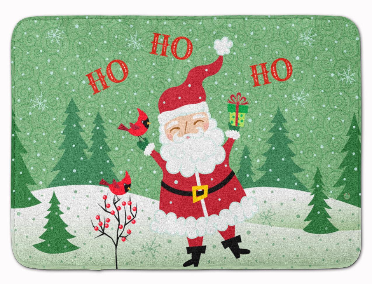The Holiday Aisle Merry Christmas Santa Claus Ho Ho Ho Memory Foam ...