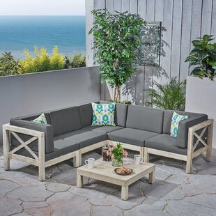 Ellison 2 Piece Sectional Seating Group with Cushions by Highland Dunes