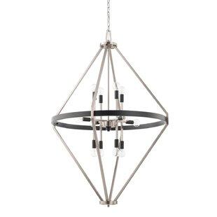 Mahan 12-Light Geometric Chandelier by Mercer41