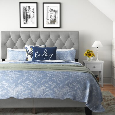 Drusilla Tufted Upholstered Low Profile Standard Bed