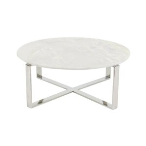 Perfect Stainless Steel/Marble Coffee Table