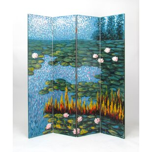 Darby Home Co Rod Lily Pads 4 Panel Room Divider