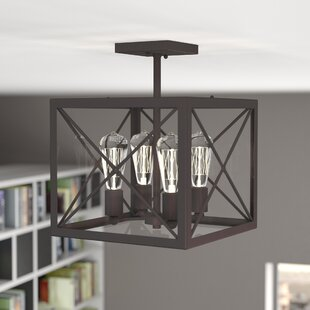 Harlon 4-Light Semi Flush Mount by 17 Stories