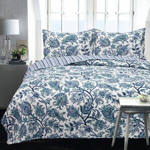 Carnside 2 Piece Floral Coverlet Set