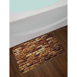 Old Brown Bath Rug