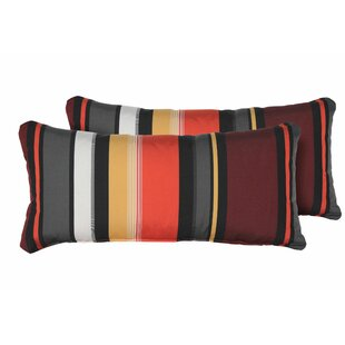 Micheal Rectangle Outdoor Lumbar Pillow (Set of 2)
