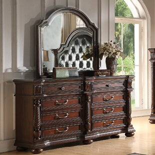 Casa del Mar 8 Drawer Double Dresser with Mirror