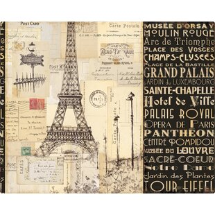 Paris Collage Plastic Cutting Board By Magic Slice