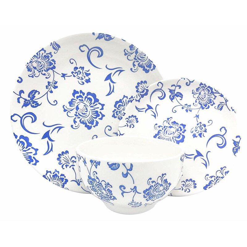 16 Piece Dinnerware Set Indigo Royale