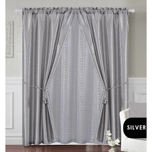 Riter 5 Piece Window Curtain Panel Pair Set