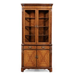 Windsor Serpentine Lighted Corner China Cabinet