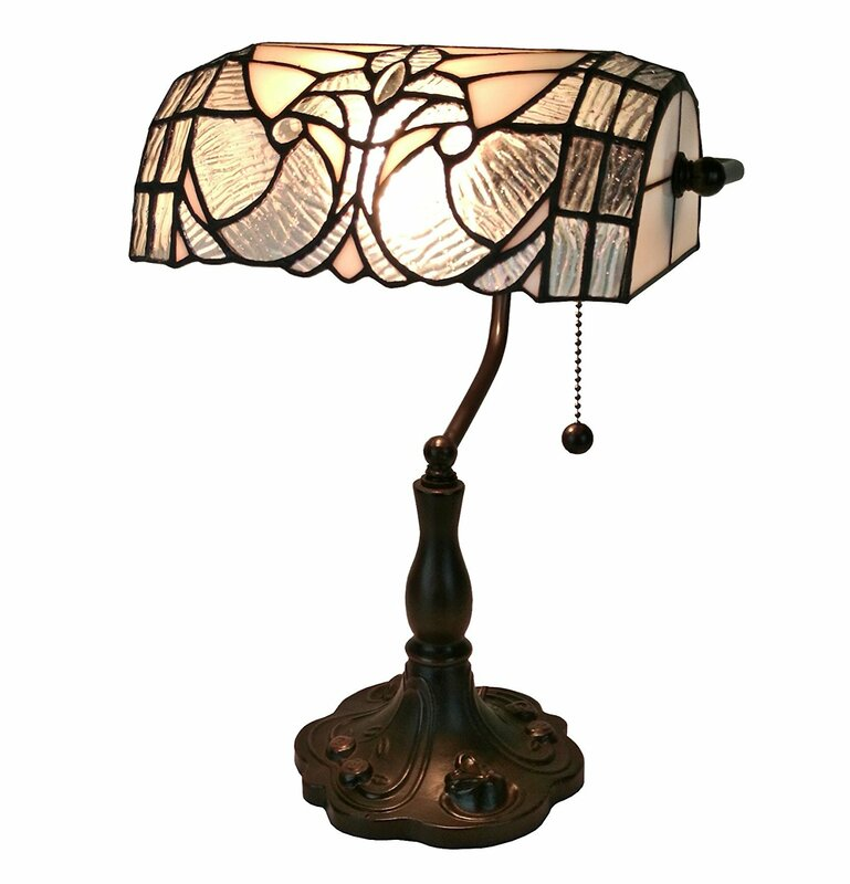 Library lamp wayfair tiffany floral banker 13 desk lamp aloadofball