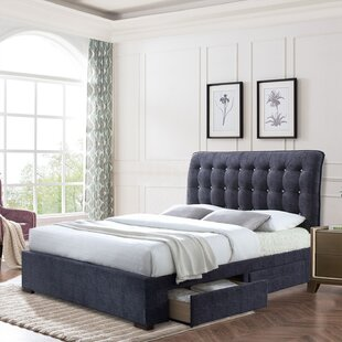 Aeronwen Tufted Upholstered Storage Sleigh Bed