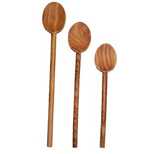 3 Piece Olive Wood Spoon Set
