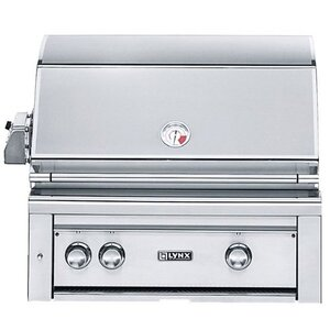 2-Burner Built-In Convertible Gas Grill with Smoker