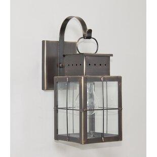 Breakwater Bay Wildes 1-Light Outdoor Wall Lantern