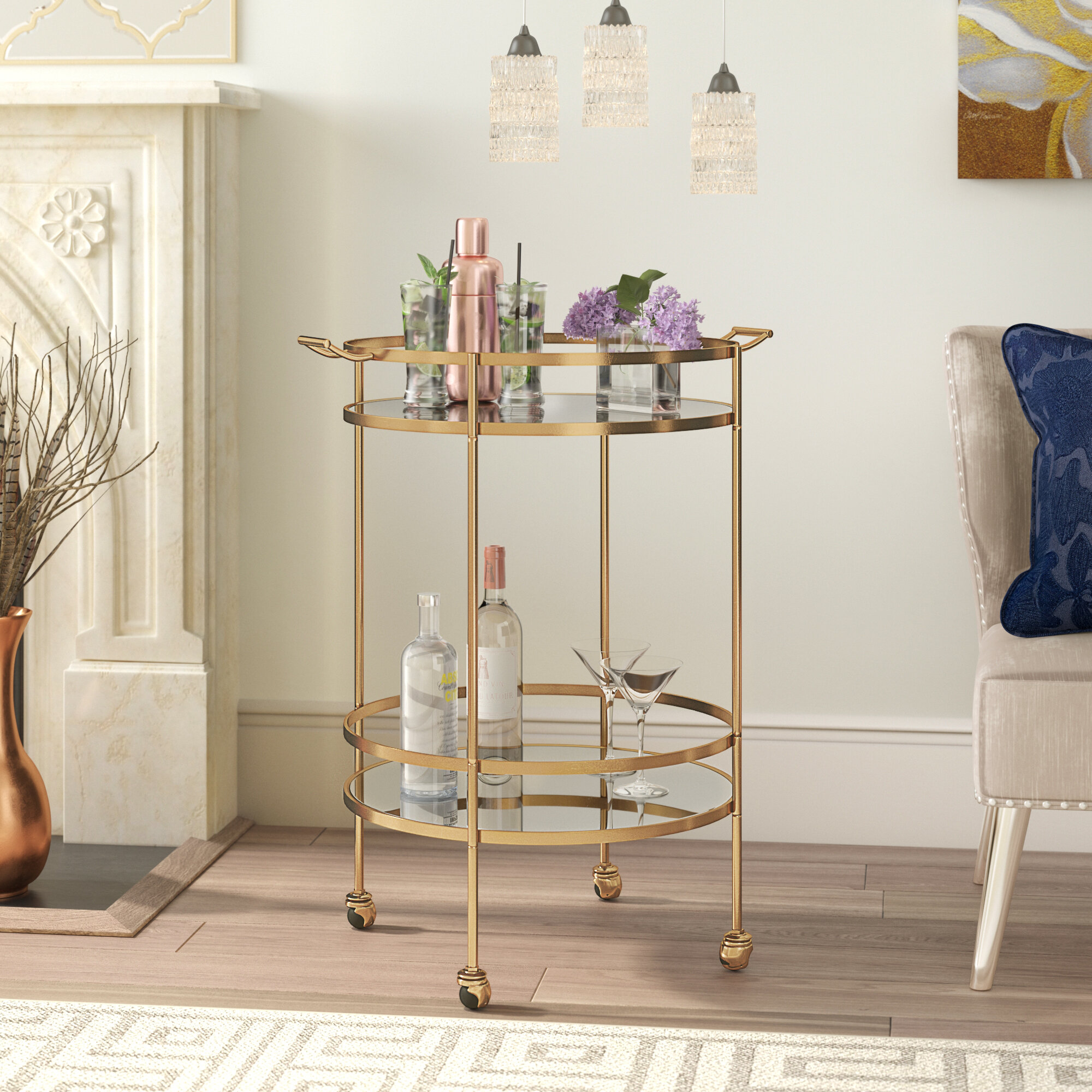 10 Bar Cart Ideas How To Outfit A Glamorous Bar Cart With Photos Wayfair