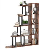 Fonville 62.99 H x 47.24 W Metal Step Bookcase by 17 Stories