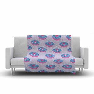 Affordable Vasare Nar Doughnut Heaven Pop Art Fleece Blanket ByEast Urban Home