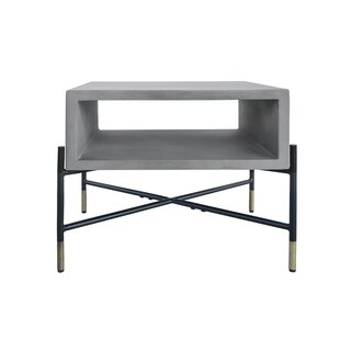 Best Price Thibeault Concrete and Metal End Table by Williston Forge