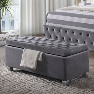 Everly Quinn Crowle Upholstered Storage Bench