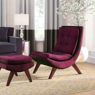 Willa Arlo Interiors Jaco Velvet Lounge Chair and Ottoman