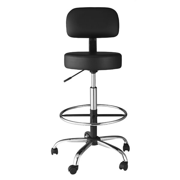 Height Adjustable Medical Stool with Back Cushion  sc 1 st  Wayfair : bar stool office chair - islam-shia.org