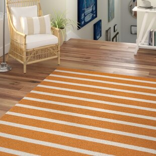 Lyndon Hand-Tufted Orange Indoor/Outdoor Area Rug