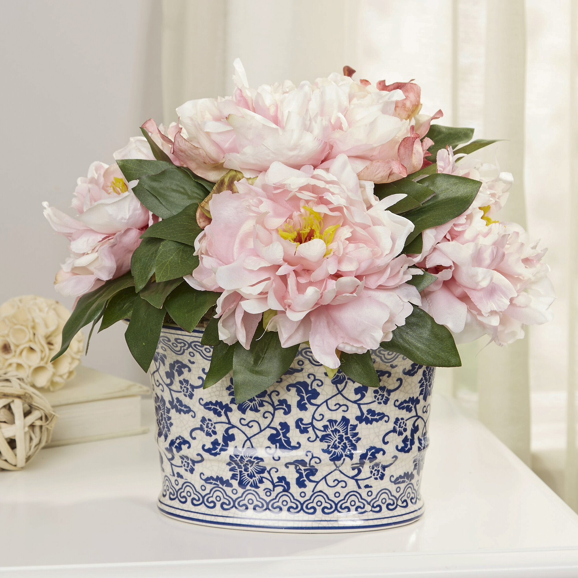 Image result for pink peony cluster centerpiece